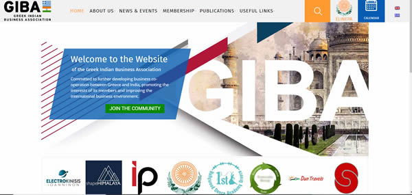 Greek-Indian Business Association (GIBA) website launched