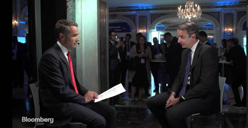 PM Mitsotakis to Bloomberg: Greece to become eurozone's success story in coming years