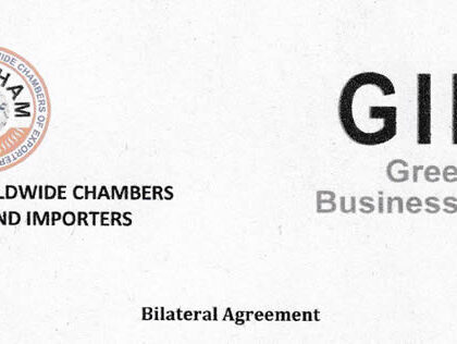 Bilateral Agreement signed between Greek Indian Business Association (GIBA) and Federation of Worldwide Chambers of Exporters and Importers (Fowcham)