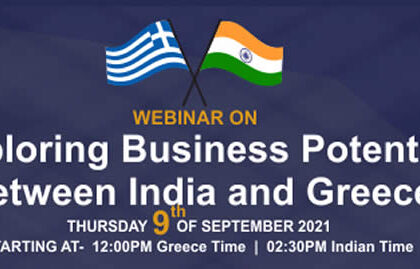"""Webinar on """"Exploring business potential between India and Greece"""""""