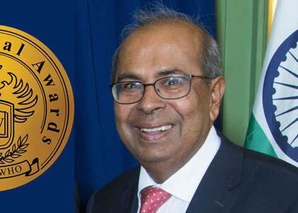 Prakash Hinduja receives the 2021 Who-is-Who Award in Greece